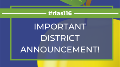 District ANNOUNCEMENT