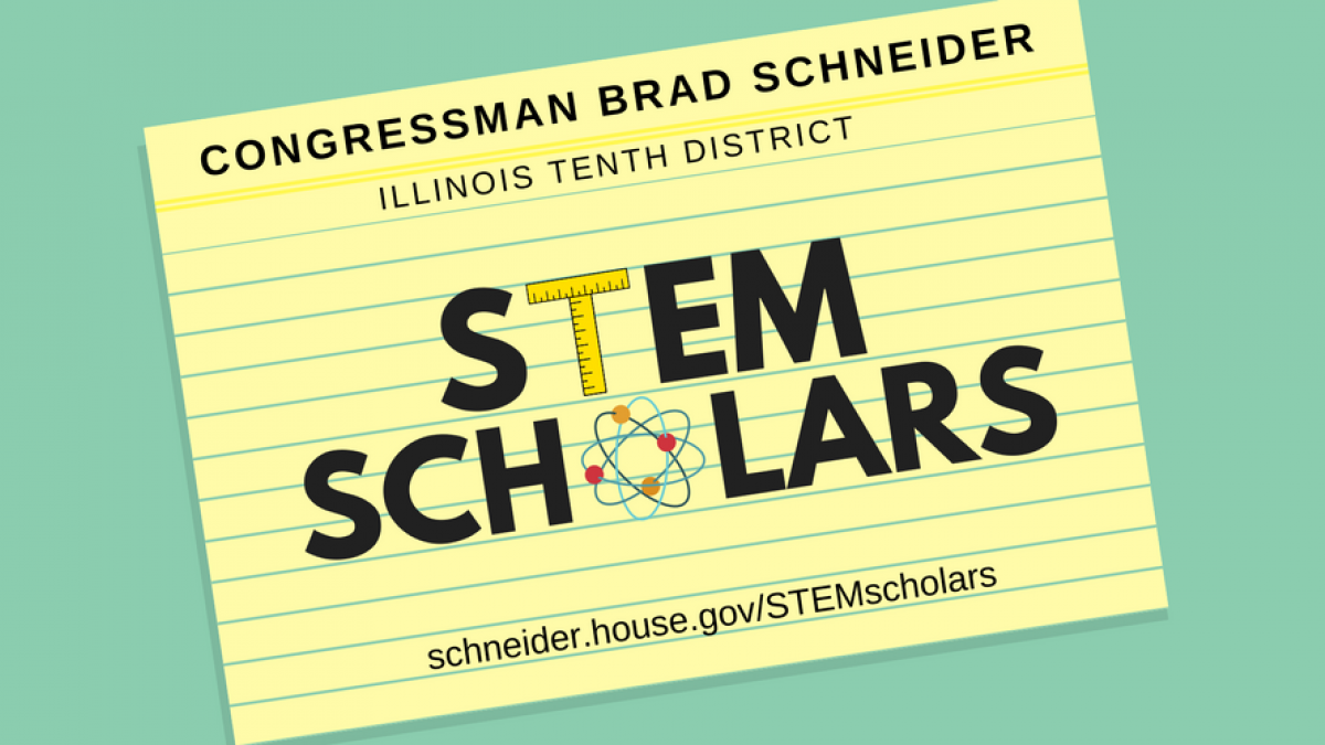 Graphic of notecard with STEM SCHOLARS text