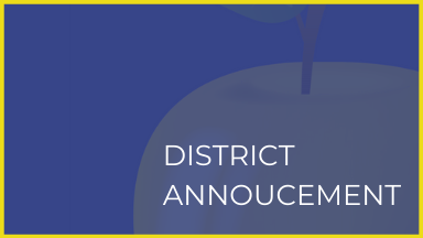 District Announcement graphic