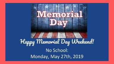 No School Memorial Day