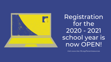 Registration for the 2020 - 2021 School Year is Now Open!