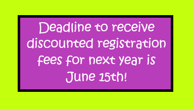 Deadline to get discounted registration fees!