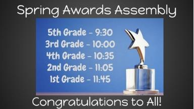 Spring Awards Assembly - Save the Date