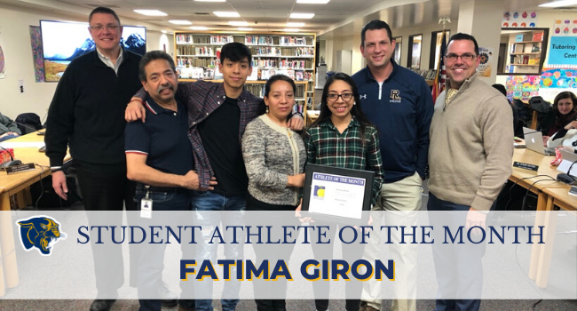 Image of Fatima Giron with family and Board President