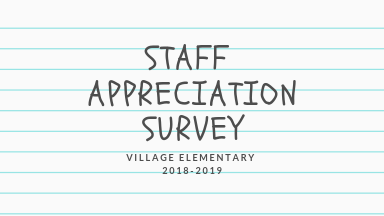 staff appreciation survey